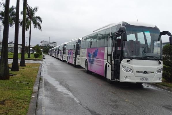 Công ty TNHH xe Buyt Daewoo Việt Nam bàn giao lô 25 xe khách 47 chỗ GDW6117 HKC